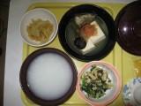 病院食(湯豆腐)-時事戯言!炎症性腸疾患(クローン病)