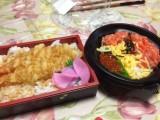 エビ天丼とマグロいくら丼-時事戯言!炎症性腸疾患(クローン病)