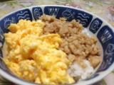 たまごと鶏のそぼろご飯-時事戯言!炎症性腸疾患(クローン病)