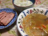野菜スープと焼豚