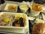 ANA機内食十穀米と焼き鯖