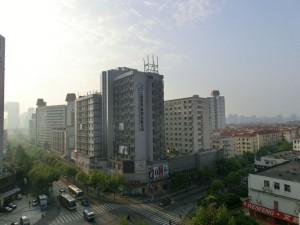 上海瑞泰酒店からの景色
