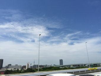 横浜へ向かう高速