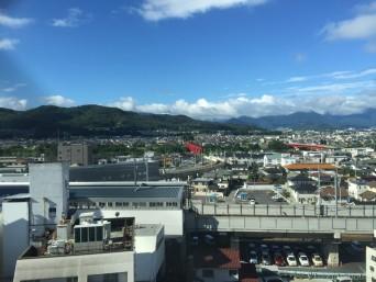 東横イン上田駅前からの風景