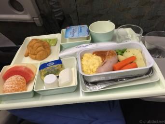 ベトナム航空朝の機内食
