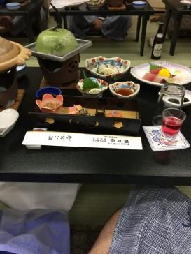ホテル中の島の食事