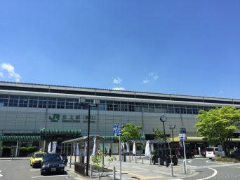 五月晴れの北上駅前