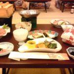滋賀県雄琴温泉旅行で近江牛のすき焼き食べる-クローン病旅行101021