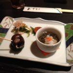 食事会!焼き魚とかナスのあんかけの煮物とか-クローン病 食事120628