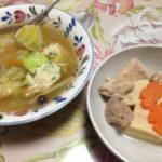 豚のしょうが焼きや高野豆腐を食べた-クローン病 食事130202