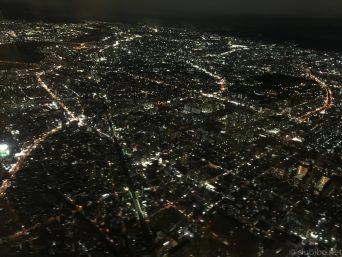 大阪上空夜景