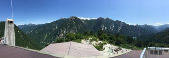 立山連峰の景色