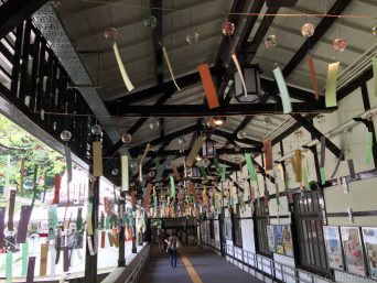極楽橋駅風鈴