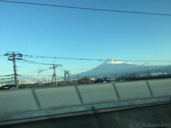 のぞみから富士山