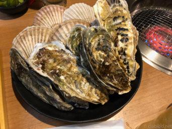 焼き牡蠣とホタテ