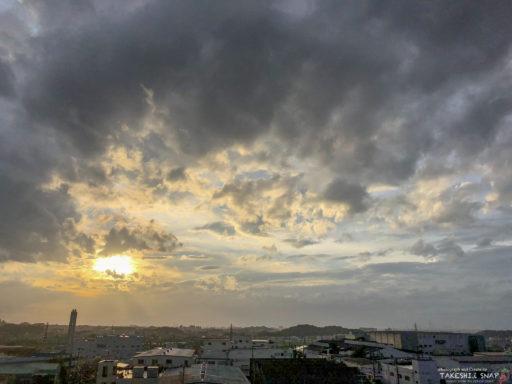 台風一過大阪