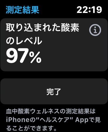 Apple Watch Series6 酸素レベル