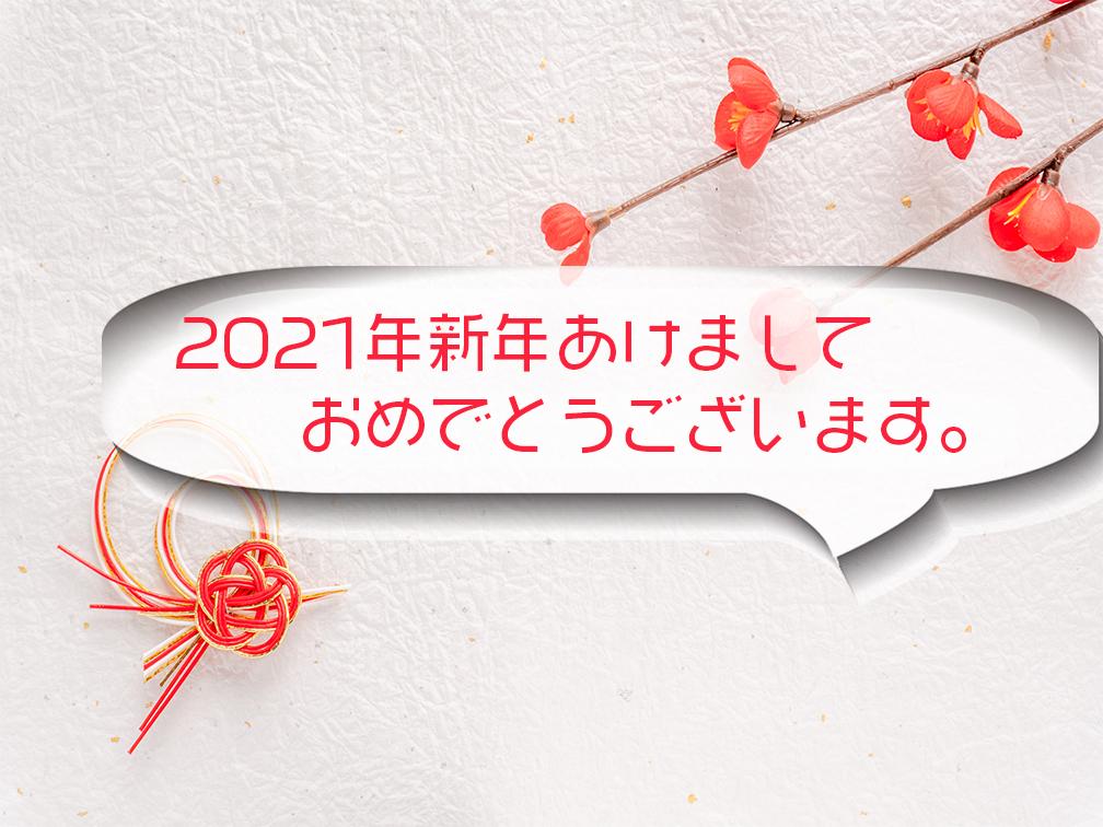 2021年新年あけましておめでとうございます。